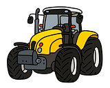 The yellow heavy tractor