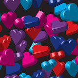 Color Hearts Seamless Pattern