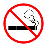 Sign prohibiting Smoking cigarettes