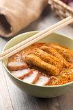 Hot Curry Laksa Noodles cuisine