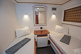 Cabin in a luxury private motor yacht