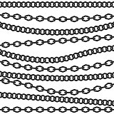 Chain vector pattern. Black silhouette on white background.