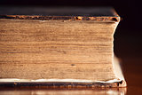 Very Old Bible Close Up