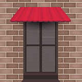 Vector awning on doors with jalousie