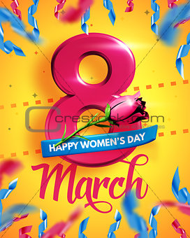 8 March. International Women's Day. Happy Mother's Day.