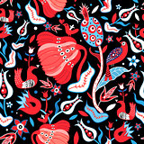 Seamless floral bright pattern