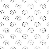 Seamless black and white background from spirals, vector illustration.