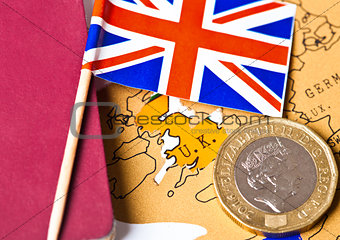 Travel holiday to United Kingdomy concept flag