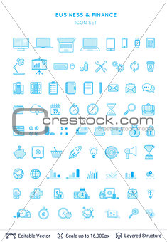 Business and financial icons collection.