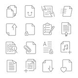 Simple Set of Document Flow Management Vector Line Icons.