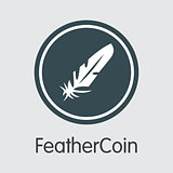 Feathercoin - Vector Colored Logo.