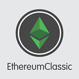 Ethereum Classic - Vector Colored Logo.