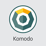 Komodo Cryptocurrency - Vector Colored Logo.