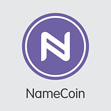 Namecoin - Cryptocurrency Colored Logo.