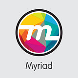 Myriad - Cryptocurrency Colored Logo.