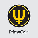 Primecoin - Cryptocurrency Colored Logo.