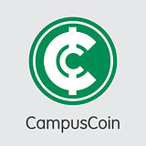 Campuscoin - Cryptocurrency Colored Logo.