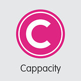 Cappasity Virtual Currency. Vector CAPP Element.