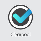 Clearpoll Virtual Currency - Vector Pictogram Symbol.