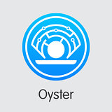 Oyster - Cryptocurrency Coin Pictogram.