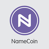 Namecoin Blockchain Cryptocurrency - Vector Coin Image.