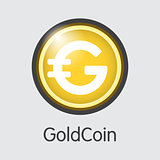 Goldcoin - Digital Currency Pictogram.