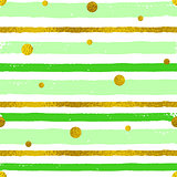 Background with green and golden strips