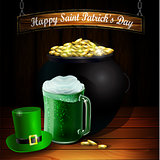 St. Patrick s Day vector greeting card