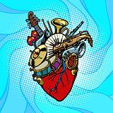 Jazz orchestra musical heart