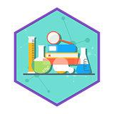 Chemical laboratory tube set