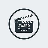 cinema award clapperboard