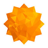 gold triangle star