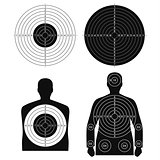 Collection of different targets for shooting template