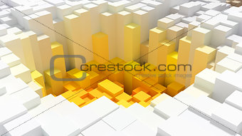 Abstract background of cubes of different colors