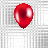 Red Balloon Isolated
