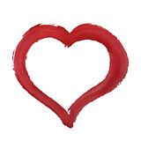 Red Paint Heart