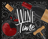 Poster wine time black