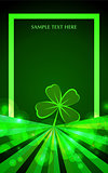 background for Patrick s day poster