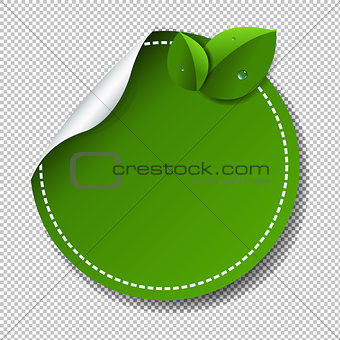 Green Label Isolated Transparent Background