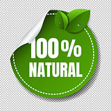 Nature Label Isolated Transparent Background