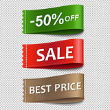 Sale Labels Set Transparent Background