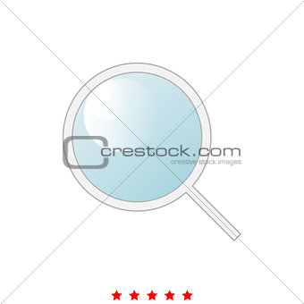 Magnifying glass or loupe it is icon .