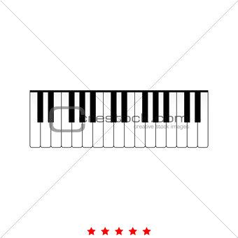 Piano keys it is icon .