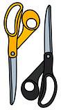 Black and yellow scissors