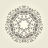 Round vignette pattern - decorative mandala design