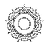 Indian mandala - flower style round moroccan pattern