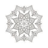 Ethnic mandala design - bohemian mandala pattern in henna style