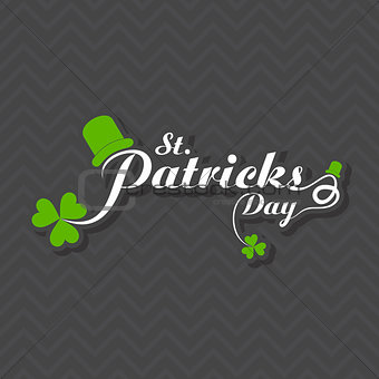 Greeting for Saint Patricks Day Celebration