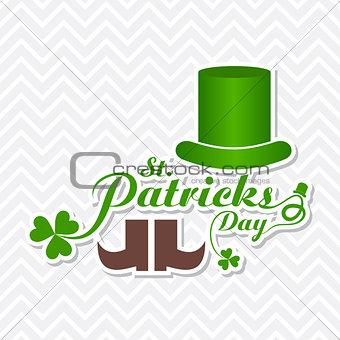 Greeting for Saint Patricks Day Celebration