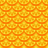 Orange fruit seamless bright pattern